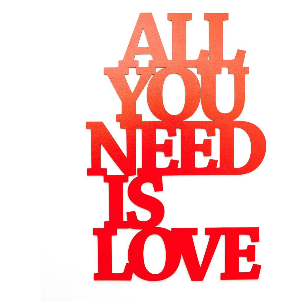 all you need is love 3d deko. Black Bedroom Furniture Sets. Home Design Ideas