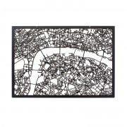 3D Stadtplan London schwarz