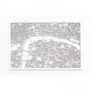 3D Stadtplan London weiß