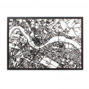 3D Stadtplan Dresden schwarz
