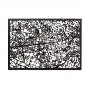3D Stadtplan Berlin schwarz