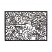 3D Stadtplan Paris schwarz