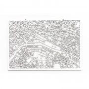 3D Stadtplan Paris weiß
