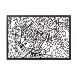 3D Stadtplan Wien schwarz