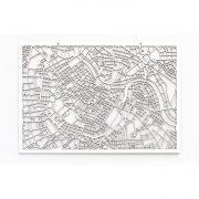 3D Stadtplan Wien weiß